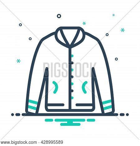 Mix Icon For Jacket Fabric Cloth Textile Cloths Weft Raiment Costume Winter Attire Garment Dress