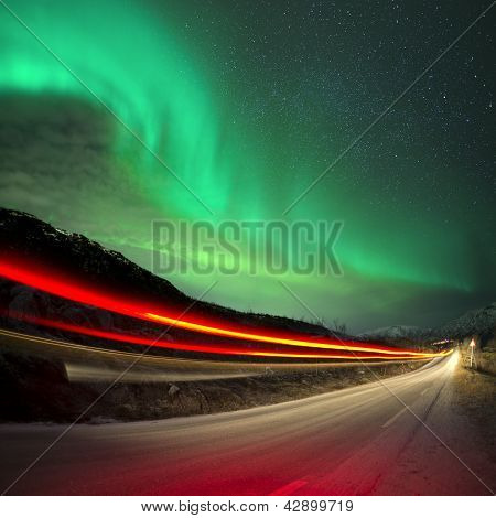 Northern Lights And Trails