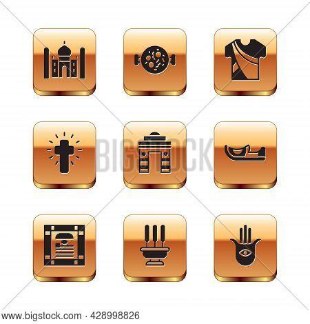Set Taj Mahal, India Constitution Day, Incense Sticks, Gate In Delhi, Christian Cross, Indian Man Dr