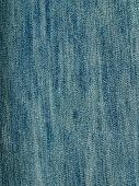 Striped textured used blue jeans denim fabric grunge background poster