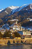 Castle Schwaz in Austria - architecture and travel background poster