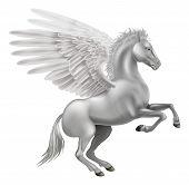 Illustration of the legendary winged horse from Greek mythology Pegasus poster
