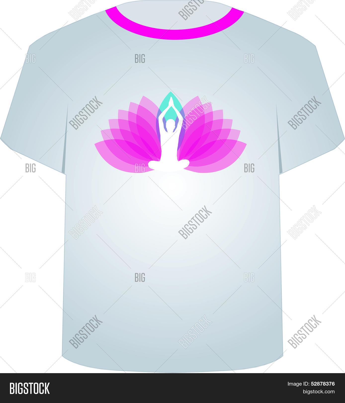T Shirt Template Vector Photo Free Trial Bigstock