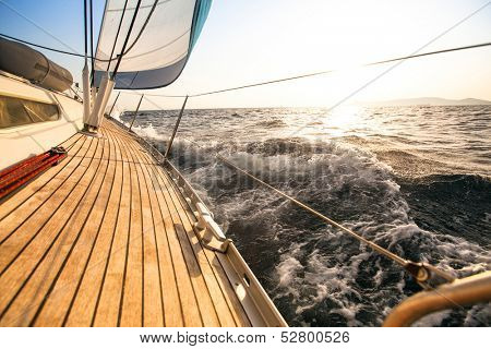 Yacht, sailing regatta. Luxury yachts.
