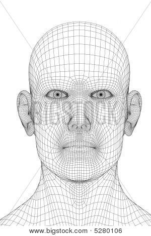 Wired Human Face