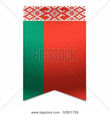 Ribbon Banner - Belarusian Flag
