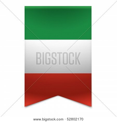 Ribbon Banner - Italian Flag