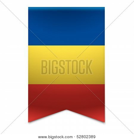 Ribbon Banner - Romanian Flag