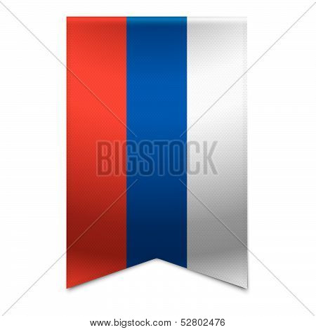 Ribbon Banner - Russian Flag
