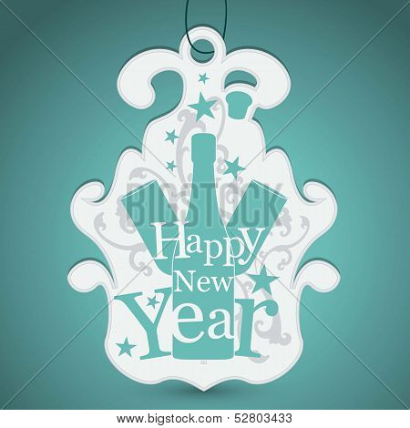 Label for New Year Greetings