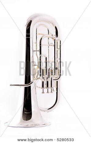 Bass Tuba Euphonium Isolated On White