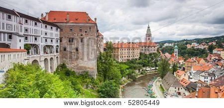 Panorama of Cesky Krumlov. Czech Republic.