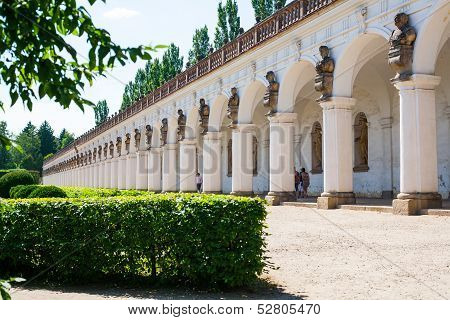 Kromeriz. Czech Republic. Colonnade.