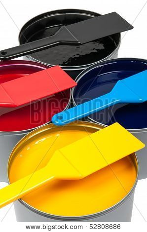 Printing Inks On White Background