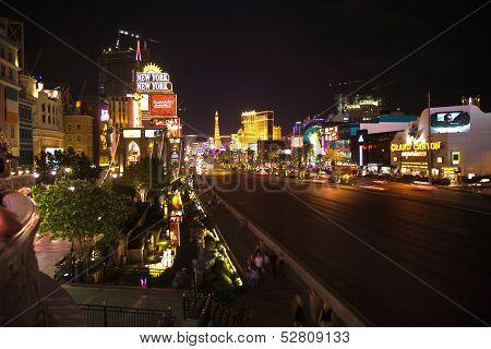 Strip In Las Vegas By Night