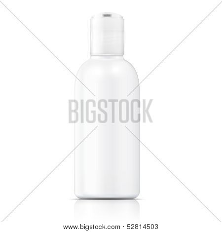 White lotion bottle template.