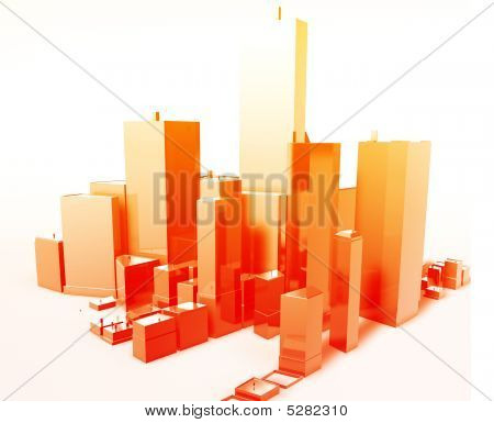 moderne abstrakte Stadt