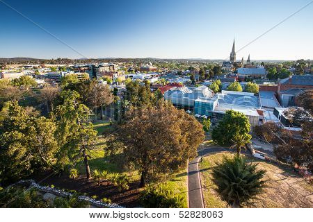 View Over Bendigo Cbd