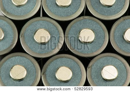 Battery cells stacked