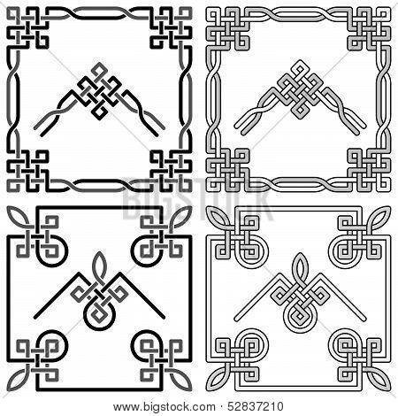 Celtic Knot Corners Patterns 1