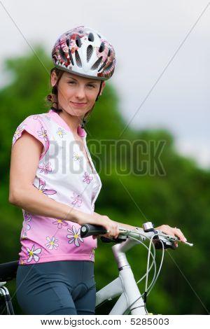 Smiling Pretty Girl - Cyclist