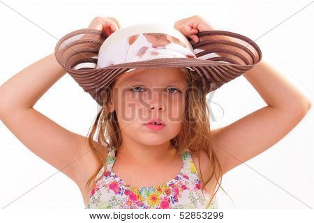 Pretty Little Girl In A Big Hat
