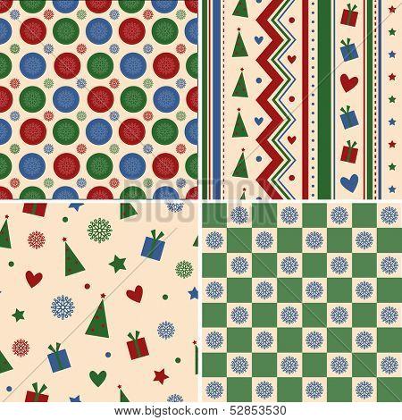 Christmas seamless set