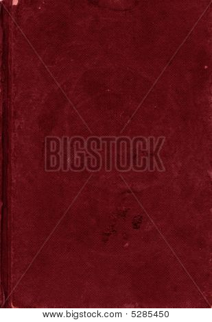 Dark Red Canvas Texture Of Old Book Cover