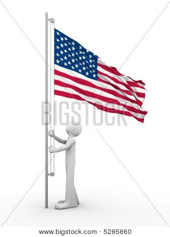 Us Flag-raising Ceremony