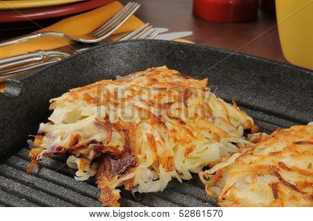 Latkes In A Cast Iron Skillet