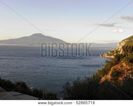 Landscape of Mount Vesuvius.