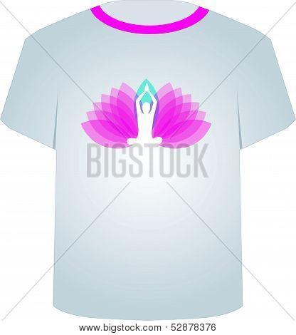 T Shirt Template- Printable tshirt graphic- yoga