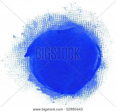Grunge Blue Circle