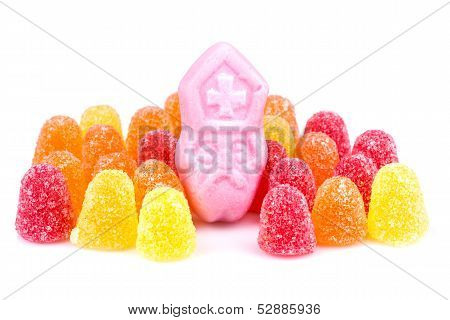 Arangement Of Colorful Sweets. Candy At Dutch Sinterklaas Event