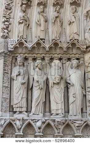 Sculpture At Notre Dame Entry
