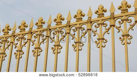 Versailles Gate Bars Angled