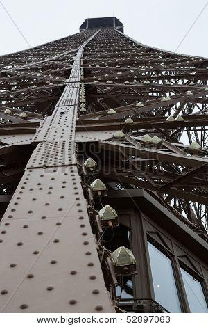 Eiffel Tower Leg Beams, Portrait