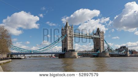 Tower Bridge From Along The River Thames