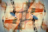 Designed abstract arts background. Used acrylic elements. poster