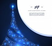 Vector illustration of Xmas tree. This is file of EPS10 format. poster