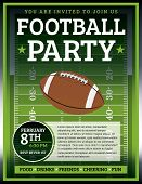 A flyer design perfect for tailgate parties football invites etc. EPS 10 available. EPS file contains transparencies. Text in EPS is layered for easy removal and customizing of your text. poster
