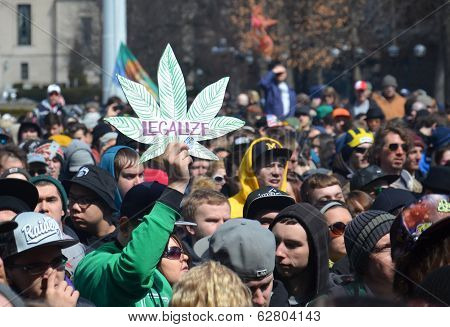 Legalize Sign At Ann Arbor Hash Bash 2014