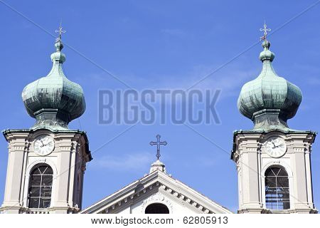 Bell Tower, St. Ignatius Church In Gorizia