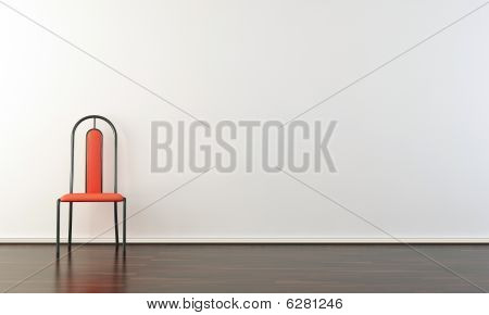 Chair on A Blank Wall