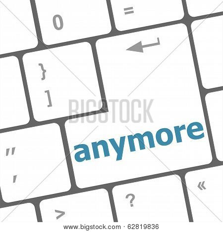 Keyboard With Enter Button, Anymore Word On It