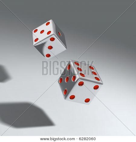 two throwing dice