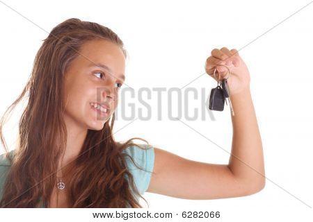 Teen With Car Keys