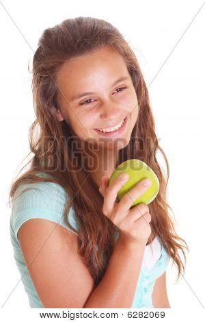 Teen Girl With Apple