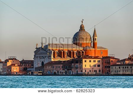 Redentore.sestiere Giudecca Church Facing Grand Canal In Venice, Italy