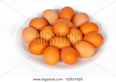 Many Eggs On A Plate